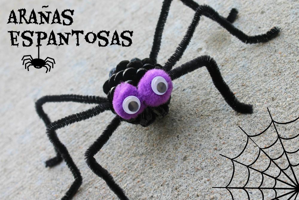 actividades halloween niños - arañas