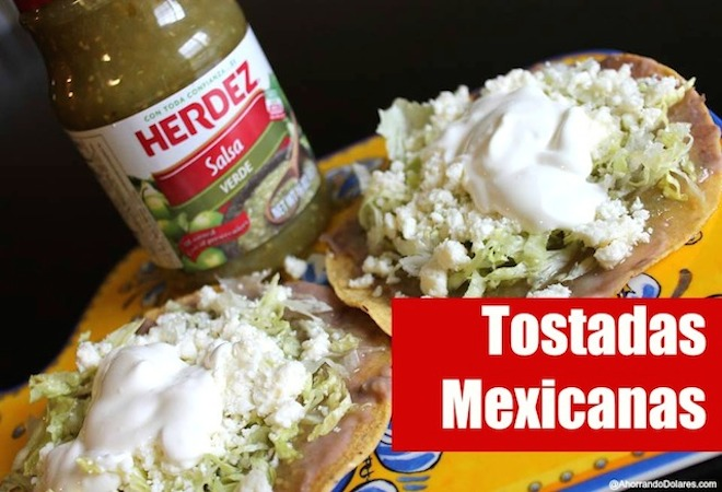 Tostadas Mexicanas con salsa verde