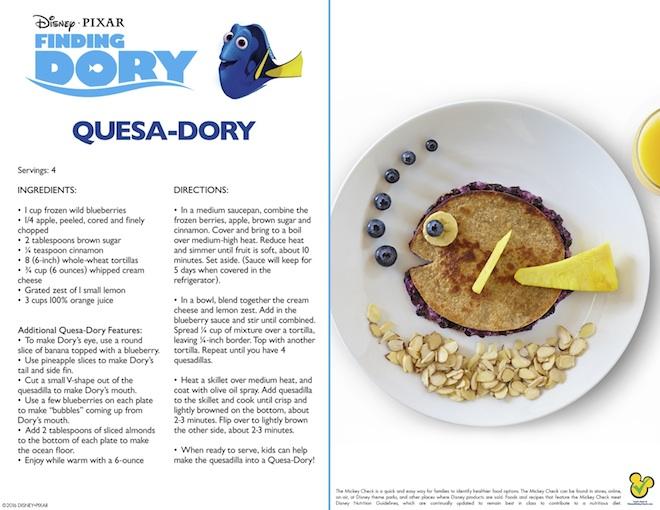 Recetas Buscando a Dory quesa blog