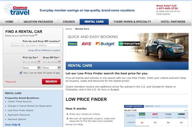 Ahorrar en Costco - Renta de auto