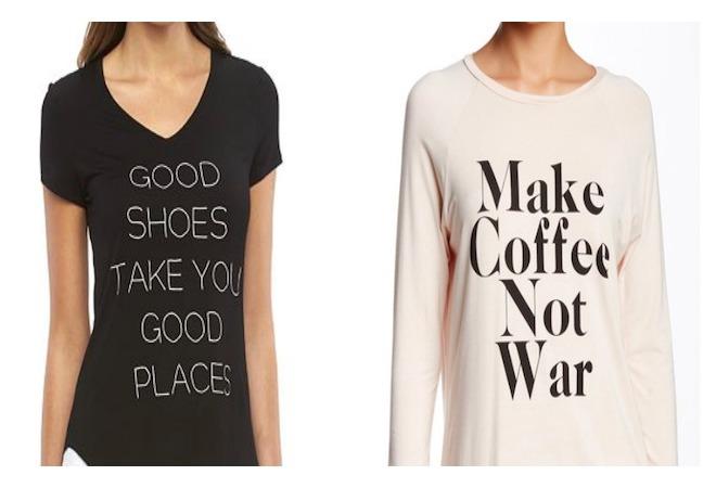 Camisas con mensajes