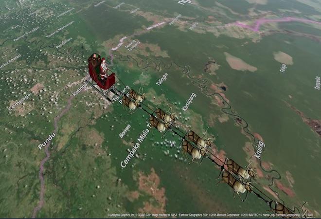Donde esta Papa Noel ahora