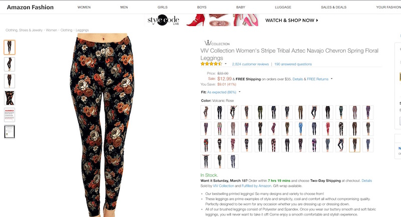 Leggings baratos Amazon