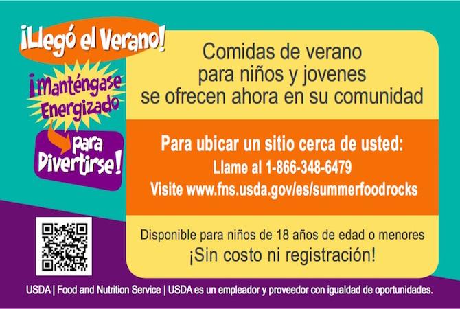 comidas de verano gratis