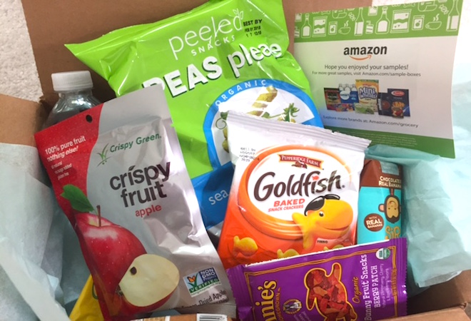Cajita de snacks gratis de Amazon