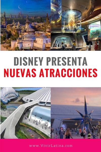 Disney presenta nuevas atracciones parques de disney
