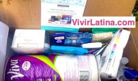 Cajita gratis productos de aseo de Amazon