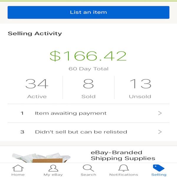 Vendiendo en eBay