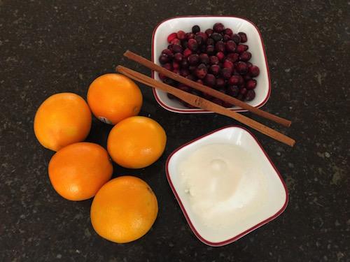 salsa de cranberries ingredientes