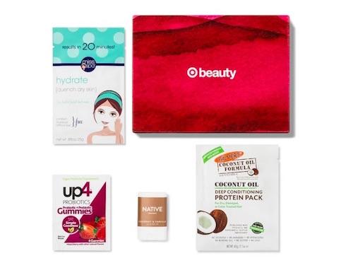 Cajita muestras de productos de belleza